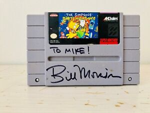 The Simpsons Barts Nightmare SNES Video Game Signed by Bill Morrison