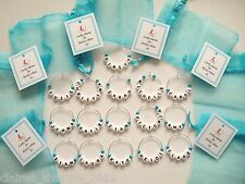 Hen Party/Hen Night/Wedding Favours - Name Wine Glass Charms