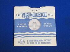 1949 VINTAGE NAPLES ITALY VIEW-MASTER REEL & SLEEVE #1612