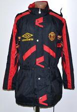 7f11235b2 MANCHESTER UNITED 1992/1993/1994 FOOTBALL BENCH COAT JERSEY MAGLIA UMBRO L  ADULT