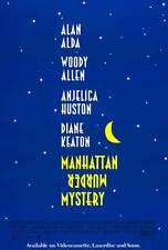 MANHATTAN MURDER MYSTERY Movie POSTER 27x40 Woody Allen Diane Keaton Jerry Adler