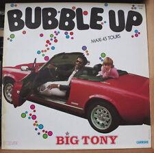 """BIG TONY BUBBLE GUM CAR FIAT COVER  MAXI 45t 12"""" FRENCH LP"""