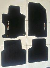 Fits 08-12 Honda Accord Floor Mats Carpet  Black Nylon 4PC W/Emblem