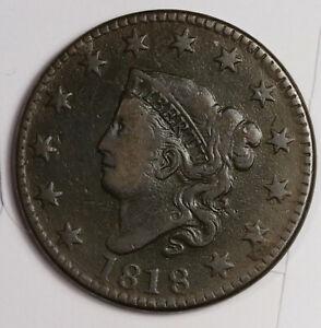 1818 Large Cent.  VF.  163088