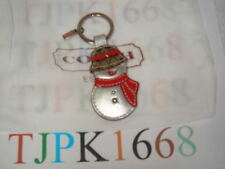 New Coach~Multi-color~Patent Leather Snowman Key-Chain 92200