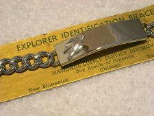 """Explorer"" Id Bracelet Vintage Boy Scout"