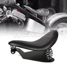 "13.4"" Leather Spring Bracket Solo Seat Base For Harley Sporster 883 1200XL Black"