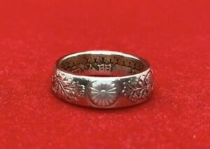 coin jewelry ring Silver Japanese 50 sin Coin Ring