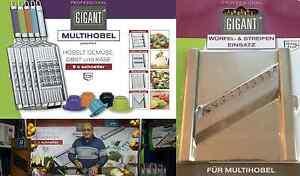 Gigant Multihobel + V-Messer + Würfel & Streifen Einsatz