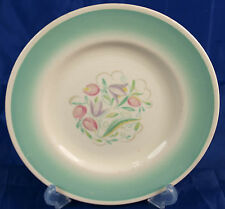 "Vintage Susie Cooper 10"" Dinner Plate in Green Dresden Spray Pattern"