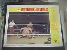 THE SQUARE JUNGLE, orig 1956 LC #2 (Tony Curtis fights in a boxing ring)
