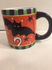 Vintage Ganz Halloween Mug - Ghost & Bat