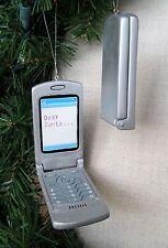 Cell Phone Text Message Christmas Ornament Flip Phone Opens  Dear Santa  New
