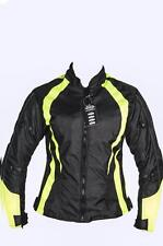 Ladies Womens Motorbike Motorcycle Jacket High Viz Water Proof Cordura Textile L