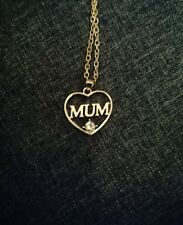 Gift Bag - beautiful gift for Mum Mothers Day Love Heart Mum Necklace With
