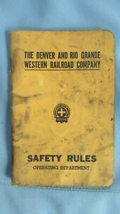 1937 Denver & Rio Grande Western RR Operating Department Safety Rules Book