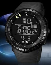 UK Mens Black tactical LED digital shock proof  Sports watch By OTS