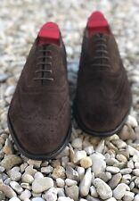 ~Barker~'Albert Castagna' Brown Suede Brogue Shoes UK7.5~Stunning Church/Work~