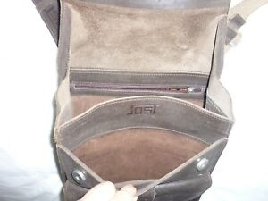 Men Genuine Leather shoulder dark brown bag/Jost