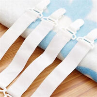 4pcs For Fixed Bedspreads Sheets White Skid Elastic Band Retaining Clip 22CM FT