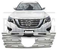 Fits 2017-2020 Nissan Pathfinder chrome grille insert grill overlay trim