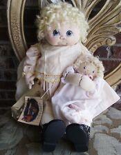 Jan Shackelford 20 in Hannah Ooak Artist Original Hand Signed Cloth Doll & Extra