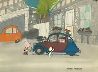 Charlie Brown PEANUTS Production Animation Cel n draws 1983 Melendez D-Day 69-03