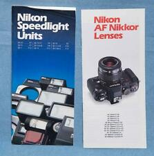 Nikon AF Nikkor Lens & Speedlight Flash Brochure Lot dq