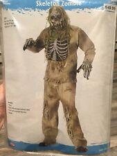 FunWorld Men's Skeleton Zombie Halloween Greenish Yellow, One Size Costume