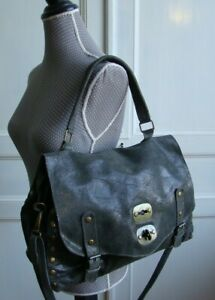Superbe sac cabas style cartable Genuine leather made in Italy
