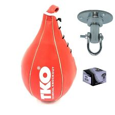 TKO Boxing Speed Bag Punching Ball Red with Swivel Training Size S