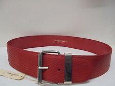 CINTURA donna vera pelle rossa UGO CORREANI VINTAGE nuova-Belt women leather red