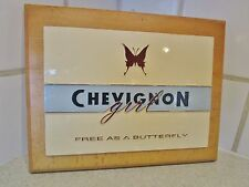 plaque  magasin-support publicitaire chevignon-togs unlimited-butterfly-papillon