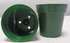 50 - 2 inch Green Plastic Flower Pots Made in the USA