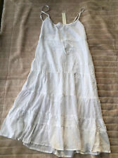 BNWT Quiksilver Fields of Darkness Maxi Dress Size Large White RRP $179.99