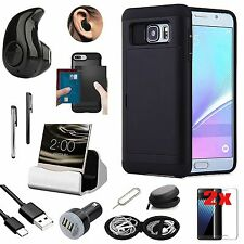 Case Cover+Wireless Earphones+Charger Accessory Pack For Samsung Galaxy S7 G930