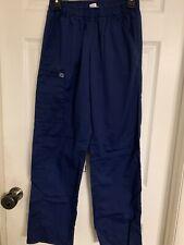 Used Womens Wonder Work Small Navy Blue Scrub Pants