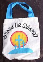 Jesus Is Risen Small Tote Bag Purse Calvary Crosses Christianity Religious