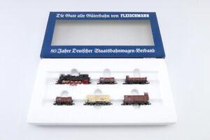 """(GHE361) Fleischmann 7886 N Zugset """"dt. Staatsbahnwagen-Verband"""" DRG, OVP"""
