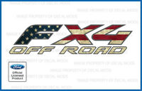 2: 1997 - 2010 Ford F250 FX4 Off Road Decals Stickers American Flag Worn FWFLAG