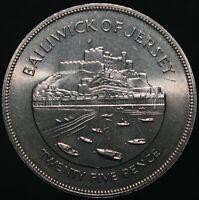 1977 | Jersey Elizabeth II Twenty Five Pence | Cupro-Nickel | Coins | KM Coins