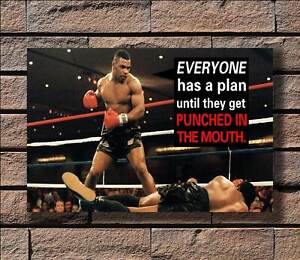 New Mike Tyson Boxer Battle Motivational Quote Boxing Sport T-694 Silk Poster