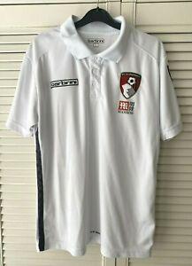 Mens AFC BOURNEMOUTH Carbrini White Polo Shirt - Size Large
