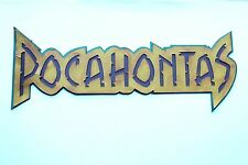 POCAHONTAS TITLE Scrapbooking Scrapbook Creative Paper Piecing Disney Princess
