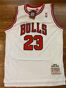Michael Jordan Chicago Bulls 1997-98 Throwback White Jersey - Medium Size 44 -
