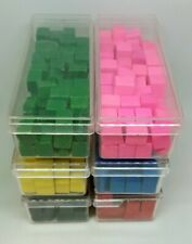1968 Risk Board Game Replacement 6 Set Army Pieces Blocks