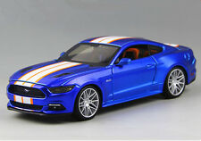 Maisto 1:24 2015 Ford Mustang GT Modified Diecast Metal Model Car Vehicle Blue