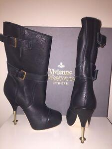 Vivienne Westwood Biker Boots UK Size 3 Or EU 36