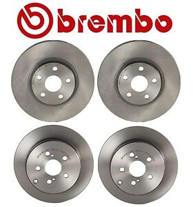 Brembo Front and Rear Coated Brake Disc Rotors Kit for Toyota Pontiac Scion tC