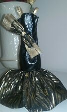 Barbie Doll Evening Dress, Black and Gold
